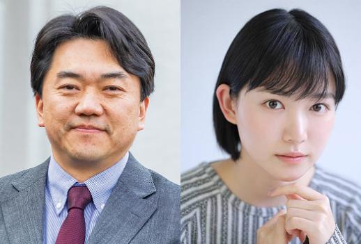 上鹿渡和宏さん(左)と小川紗良監督(左)
